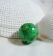 Gaspeite Rare Canadian Green Gem Stone Bead Large Round Focal 12 MM (1)