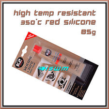 85g High Temperature Silicone +350°C Heat Resistant Glue Adhesive Sealant Red