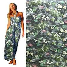 By Yard Digital Printed 100% Pure Silk Chiffon Fabric-exquisite Floral dpc 33013