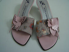 Size 5 slip on low slim heel floral sandals from Peter Kaiser