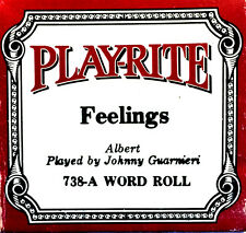 PLAYRITE Morris Albert FEELINGS 738-A Johnny Guarmieri Player Piano Roll