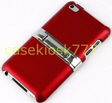 for iPod touch 4th 4 th 4G itouch rubber ized sexy red case w/ kick stand