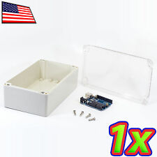IP65 ABS Plastic Box Enclosure Waterproof Clear Project Case 200x120x75mm