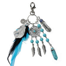 Keychain Feather Tassel Pendant Dream Catcher Keyring Key Chain Ring Keyfob Gift
