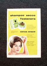 M456- Advertising Pubblicità -1960-  SHAMPOO SECCO TESTANERA