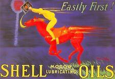 Art Poster Shell Motor Oil  Deco  Print