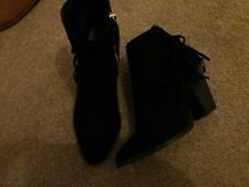 black suede ankle boots 6