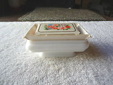 """Vintage Avon Country Garden Soap In Dish """" NOS """" ? / Used Dish ? """" BEAUTIFUL SET"""