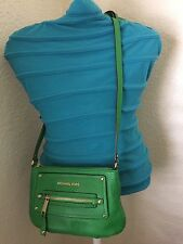 MICHAEL KORS GILMORE GREEN MESSENGER CROSSBODY SHOULDER ORGANIZER HANDBAG