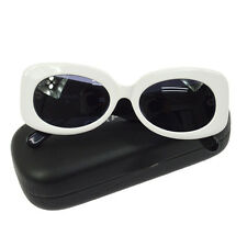 Auth CHANEL Vintage CC Logos Sunglasses Eye Wear Black White Plastic V11478