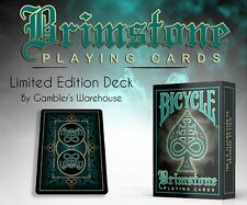 Bicycle Brimstone Deck (Green) by Gambler's Warehouse Poker SPielkarten