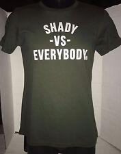 EMINEM SLIM SHADY LE DETROIT SHADY VS EVERBODY T-SHIRT RARE SIZE 3XL GREEN