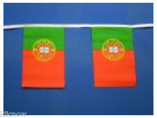 Portugal Bunting 9metres 30ft Long with 30 Cloth fabric Flags