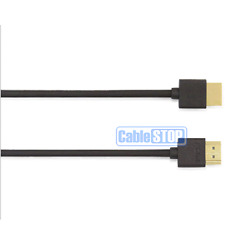 1m ULTRA SLIM HDMI LEAD FULL HD TV PS3 SKY DVD FLEXIBLE THIN ETHERNET CABLE