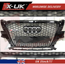 RSQ5 STYLE FRONT GRILL GLOSS BLACK  FOR AUDI Q5 SQ5 2008 - 2012