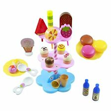 AOSHIJIE 22 PCS DIY Desserts & Ice Cream Lolly Stand Pretend Play Set Food Toys