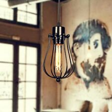 Industrial Edison Lampshade Light Pendant Fitting Iron Cage Hanging Ceiling Lamp