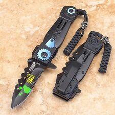 Spring Assisted Defender Xtreme SAW Tactical Pocket Folding Knife Sharp Blade bl