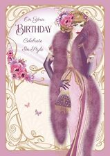 Art Deco Lady ~ On Your Birthday Celebrate In Style ~ Birthday Card