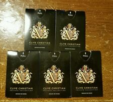 """5x CLIVE CHRISTIAN """"V"""" PRIVATE COLLECTION PERFUME FOR WOMEN SAMPLE SPRAY CARD"""