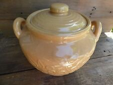 CERAMIC COOKIE JAR/ YELLOW VASE/TUSCAN DÉCOR/ LARGE CANISTER/STORAGE CONTAINER