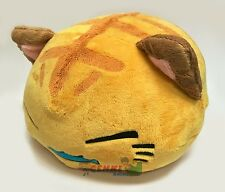 FuRyu Nemuneko Cute Fish and Tiger Neko Cat Big Cushion Plush AMU7702 ~ Yellow