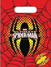 1x Pack of 6 Spiderman Ultimate Themed Plastic Party Loot Bags.