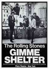 Rolling Stones *POSTER* Gimme Shelter -  PROMO  AMAZING IMAGE 70's Rock