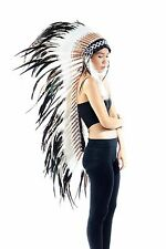 Feather Indian headdress replica Long feather headdress Native American Style