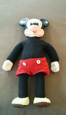 "Vintage Disney Marching Mickey Mouse 18"" Walking Doll ~Works But Damaged"