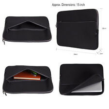 "15"" 15.4"" 15.6 inch Black Pocket Laptop Notebook Carrying Bag Sleeve Case Cover"