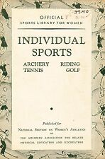 1938-39 ARCHERY  TENNIS  RIDING  GOLF GUIDE  FREE SHIPPING IN THE USA