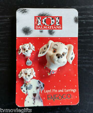 Disney 101 Dalmatians Lapel Pin and Earrings Set Licensed 265047 New