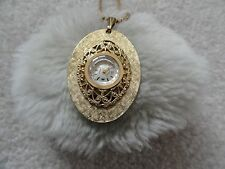 Andre Bouchard 21 Jewels Wind Up Vintage Necklace Pendant Watch