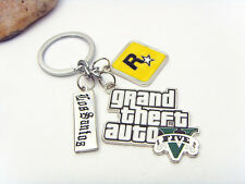 GTA 5 keychain Grand Theft Auto V trinket For Fans PS4 Xbox PC Rockstar Game