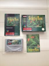 Mega Rare Super Nintendo Secret of mana OVP CIB SNES Mint