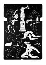 CLEON PETERSON Justice '15 print poster graffiti art lady killing violence party