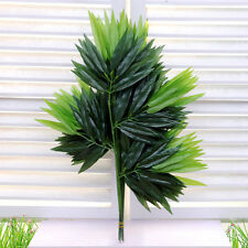 2X Artificial Green Bamboo Leaf Vine Plant Garland 20 Leaves Fake Foliage Decor
