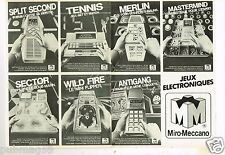 Publicité advertising 1981 (2 pages) Jeu Jouets Miro Meccano