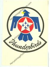 UNITED STATES AIR FORCE THUNDERBIRDS-SQUADRON CREST-POSTCARD-(MISC2-5*)
