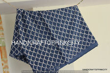 5 yards Indian Fabric Indigo Blue Print 100% Cotton Fabric Yard Hand Block Print