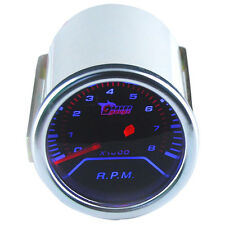 "Car Motor Pointer Smoke Tint Len 2"" 52mm Tacho Tachometer Gauge Meter Dials Face"