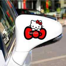 Hello kitty Car Decal Sticker Rearview Mirror Red Reflective Cute QP194