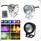 10W 12V RGB LED Light Fountain Pool Pond Spotlight Underwater Waterproof Lamp ET