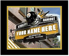 NFL Pittsburgh Steelers Sports Hangout Print Personalized and Framed