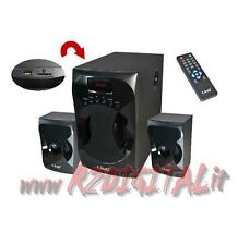 HIFI A3303 ALTOPARLANTI 2.1 TV CASSE PC HOME THEATRE RADIO + USB SUBWOOFER MP4