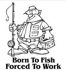 Né à pêcher Voiture / Bateau Autocollant