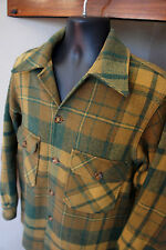 Vintage 40's/50's Woolrich Mens 38 THICK Wool Vtg Mackinaw Hunting Flannel Shirt