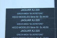 EO Heco modeles 1 étiquette autocollante numéroté JAGUAR XJ 220 green mica