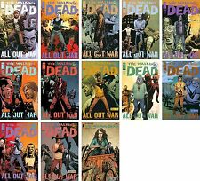 """Walking Dead Issue #115-126 Complete ALL OUT WAR Story + #127 """"A New Beginning"""""""